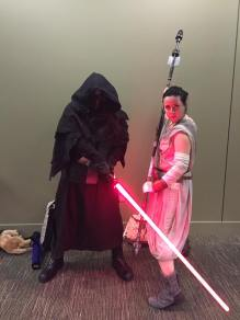 Sakuracon 2016 Rey (me), and Kylo Ren (husband)