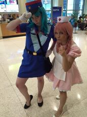 Sakuracon 2015 Officer Jenny (Me) with Nurse Joy (Best Friend)